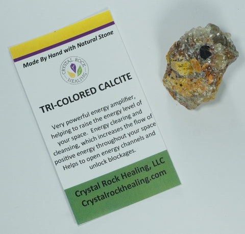 Calcite TriColored Pocket Stone