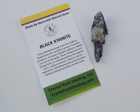 Kyanite Black Pocket Stone