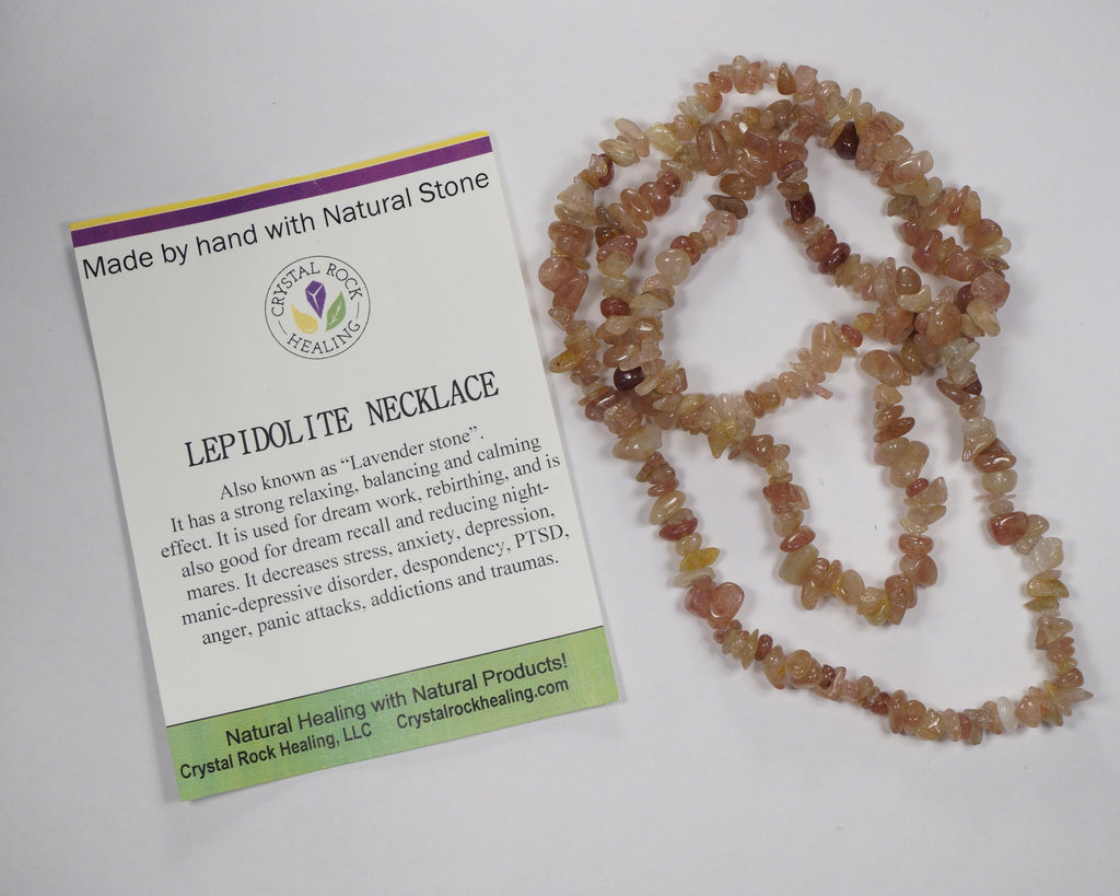 Natural Stone Chip Necklace 34-35