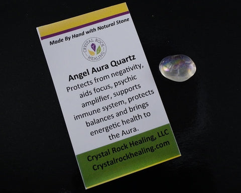 Quartz Angel Aura Pocket Stone