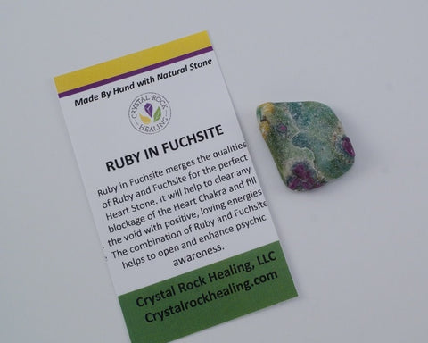 Ruby In Fuchsite Pocket Stone