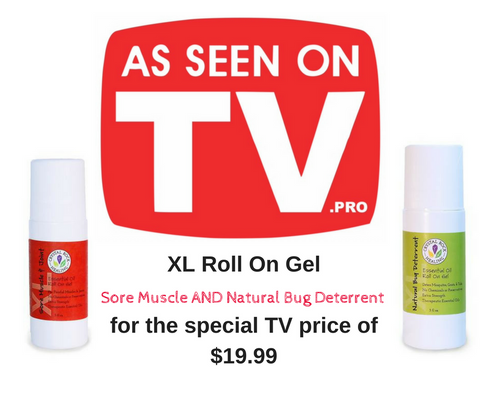 XL Gel Roll On pair - Sore Muscle & Natural Bug Deterrent