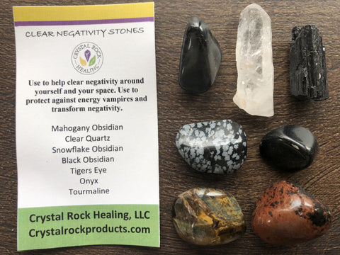 Collection Stones Clear Negativity