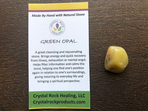 Green Opal Pocket Stone