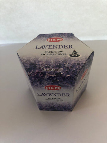 Backflow Hem Incense Cones-Lavender