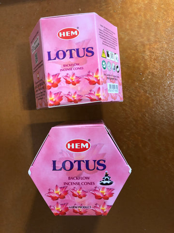 Backflow Hem Incense Cones-Lotus