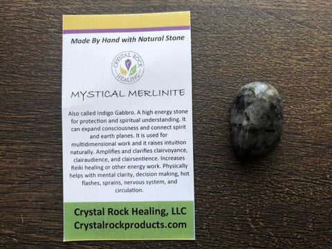 Merlinite (Indigo Gabbro) Pocket Stone