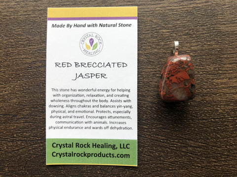 Red Breciated Jasper Pendant
