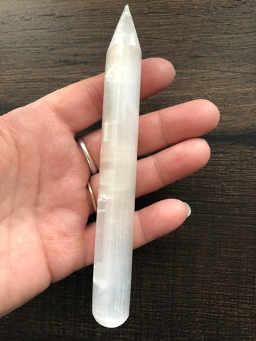 Selenite Pencil Wand