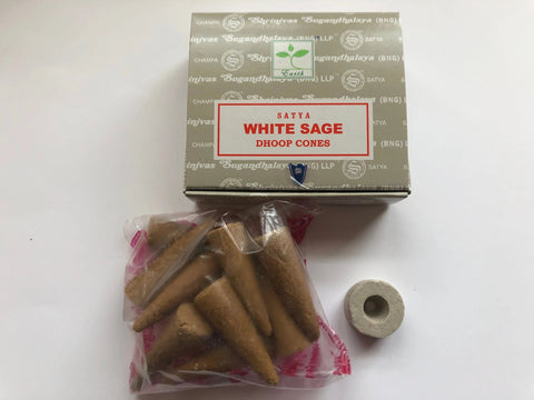 White Sage Dhoop Cones