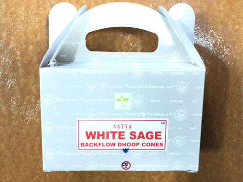 Backflow Dhoop Incense Cones-White Sage
