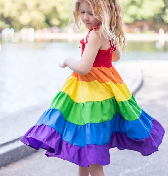 Rainbow twirl dress