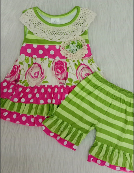 Polka Dot Ruffle Set