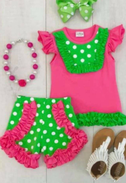 Polka dot summer ruffles