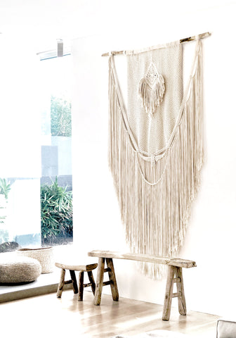 A roundnine9 macrame custom piece made for a beautiful home in Sydney's Eastern Suburbs