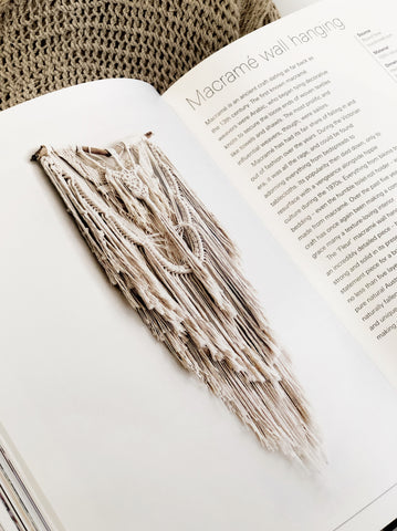 roundnine9 macrame wall hanging Fleur featured in coffee table book Bohemian Style at Home by Kate Young