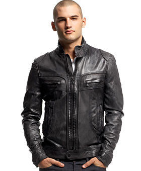 Mens Raging Black Leather Jacket - Top Seller! - Wholesale Zombie