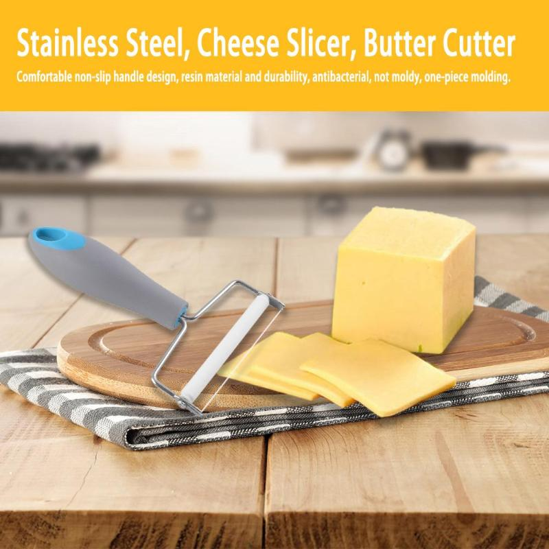 Stainless Steel Cheese Slicer Wire Cheese Cutter Plastic Handle Butter Cutter Non Stick Wire Cutter Kitchen Tools