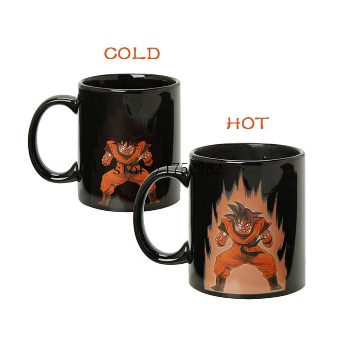 Goku Kaioken mug hot changing color