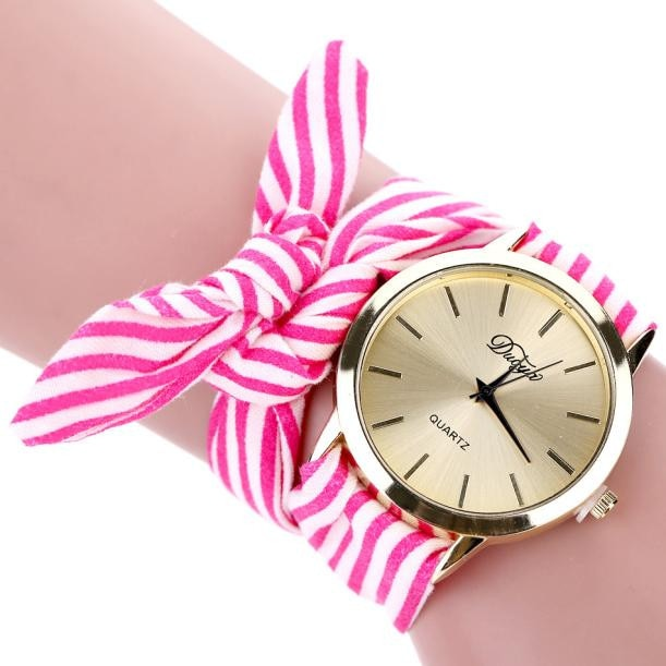 Scarf Band Flower Gold Women´s Watch (different styles)