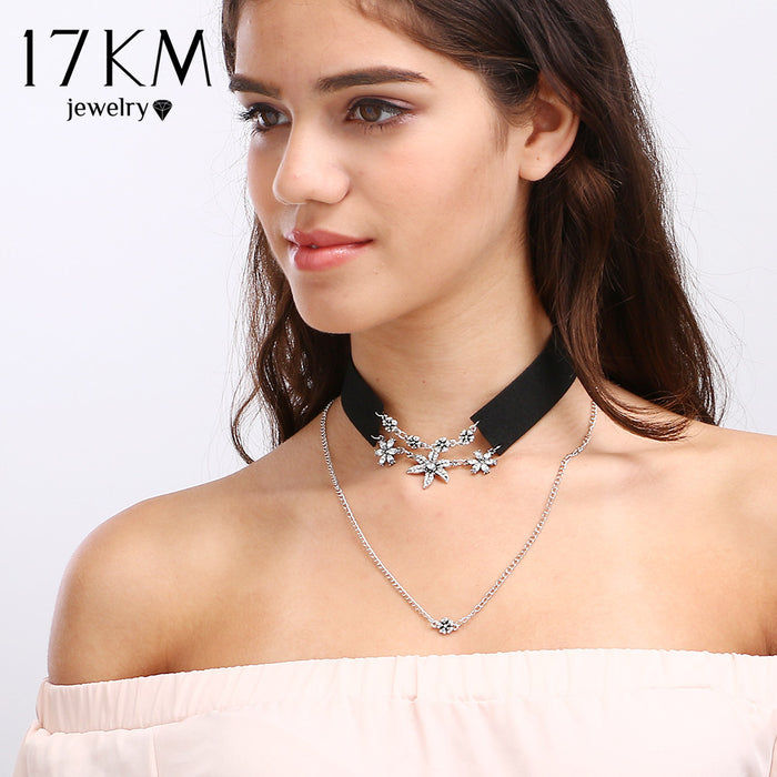 Crystal Flower Choker Necklace (different styles)