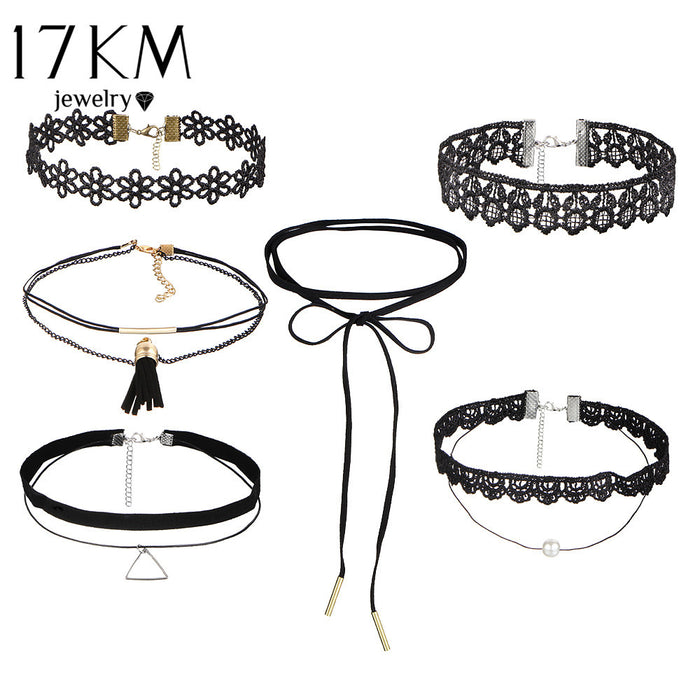 Various Chockers 6 Pcs set (different styles)