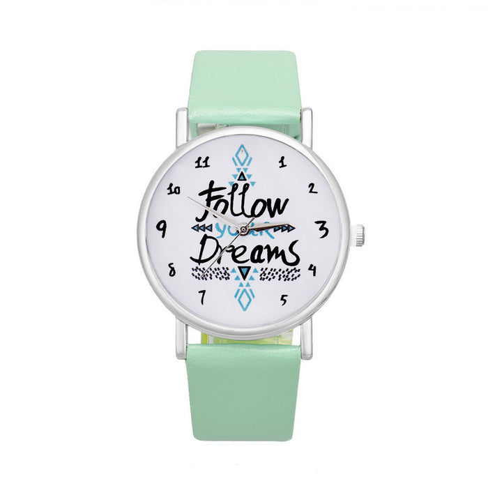 Follow Dreams Classic Women's Watch (different styles)