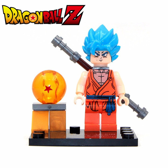 Goku or Vegeta Lego figure
