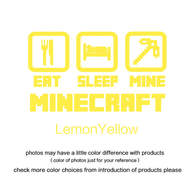 Home Minecraft decoration vinyl