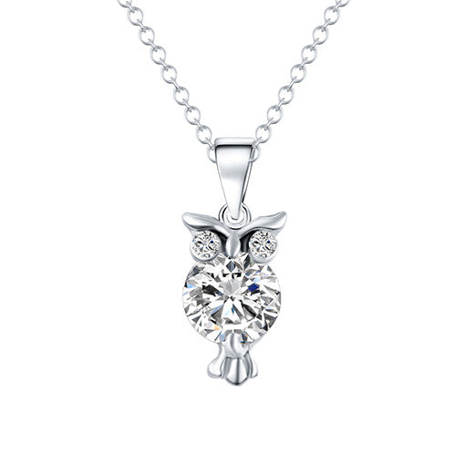 Crystal Zircon Owl Necklace (different styles)