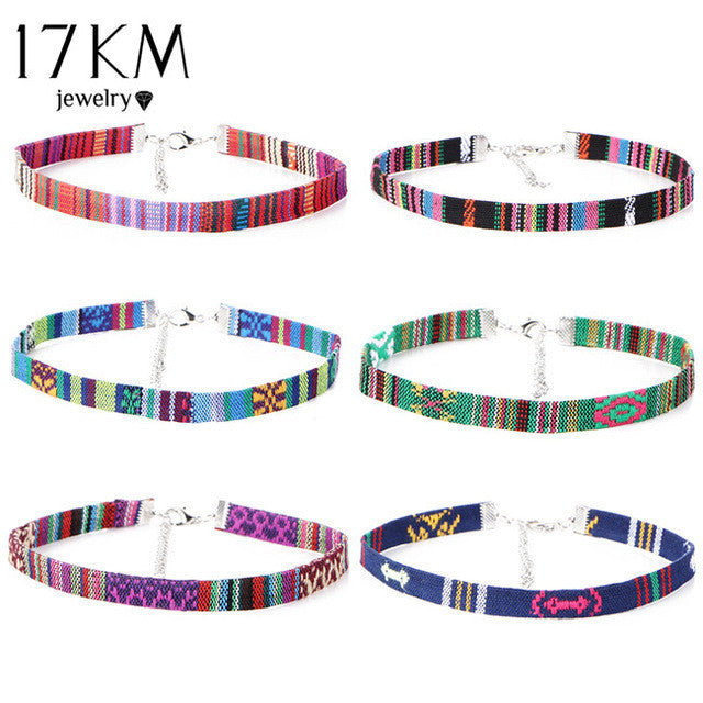 Set Fabric Choker 6pcs set