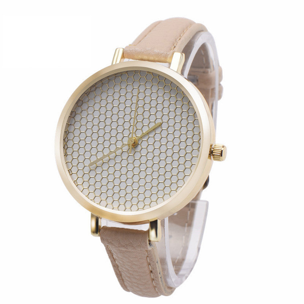 Elegant honeycomb Brown/gold Women´s Watch (different styles)