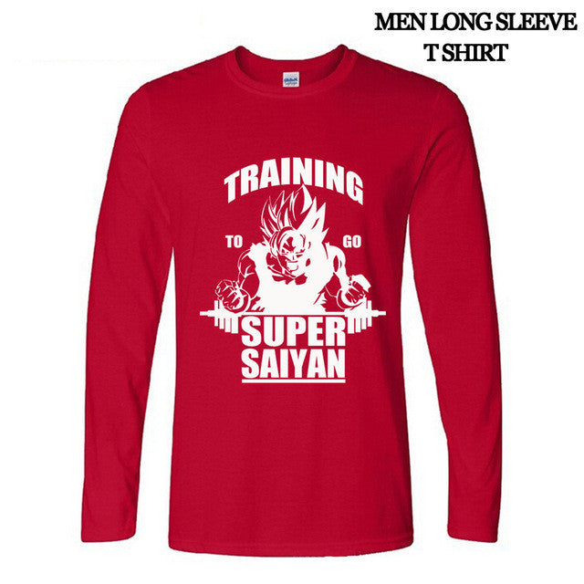 Training Super Saiyan Long Sleeve T-Shirt (Different Colors )