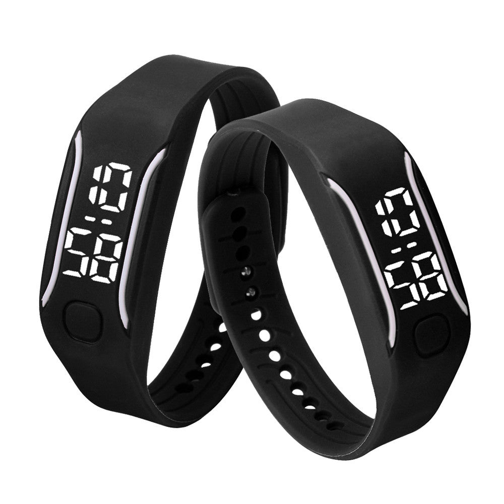 Black LED Rubber Band Men´s Watch (different styles)