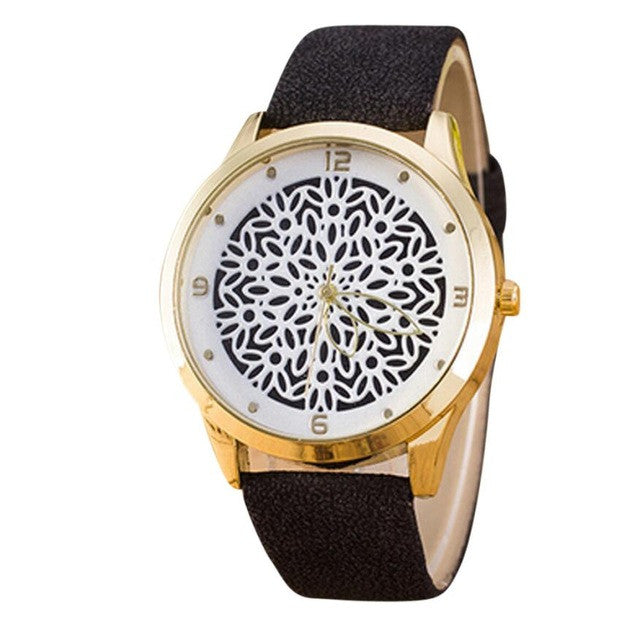 Casual Pattern White/Gold Women´s Watch
