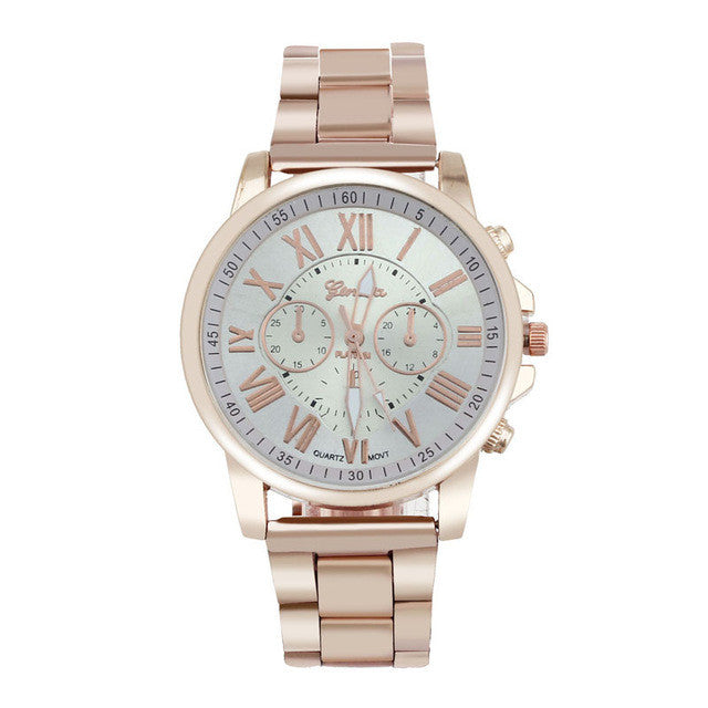 Geneva Stainless Steel Analog Gold Women´s Watch (different styles)