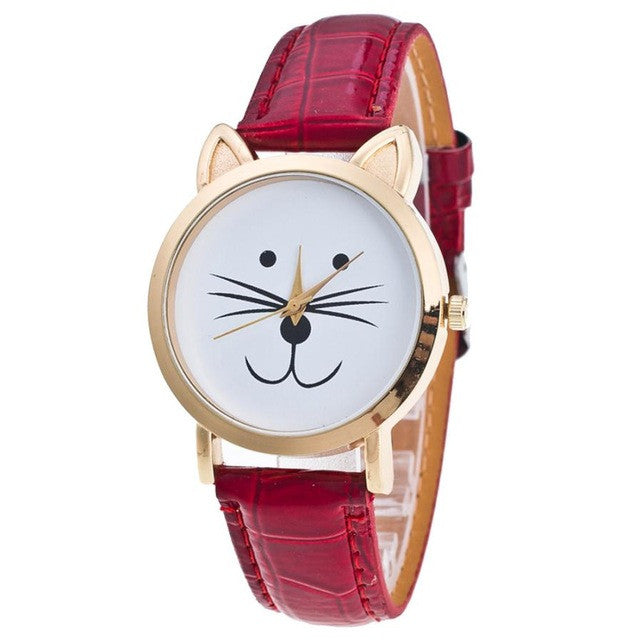 Cat Face Pattern Women´s Watch (different styles)