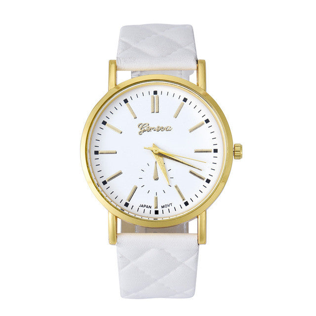 Geneva Leather Black/Gold Women´s Watch (different styles)