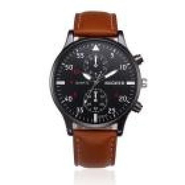 MiGEER Leather Men´s WristWatch (different styles)