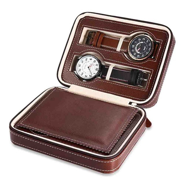 Luxury PU Leather Watch Case