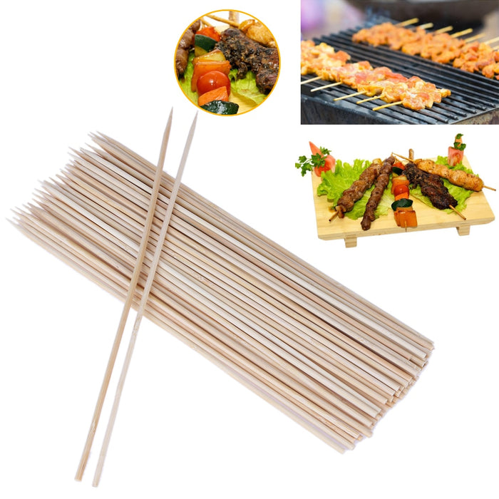 100Pcs Eco-friendly Bamboo Wood Sticks