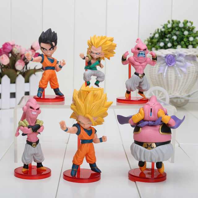 Majin Buu Saga 6pcs/set Mini Action Figures