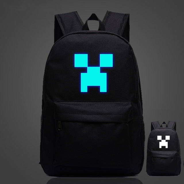 Minecraft Glow in the Dark Backpack (Different Styles)