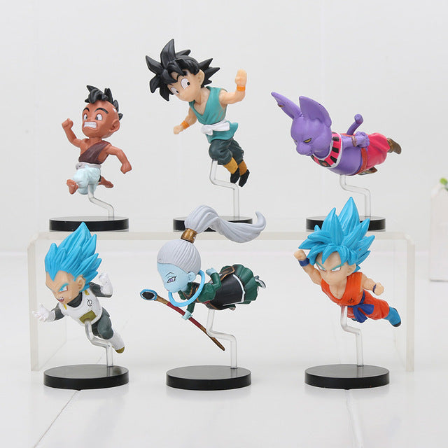 Universe 6 and 7 6pcs/set Mini Action Figures