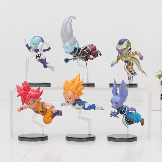 Beerus 6pcs/set Mini Action Figures