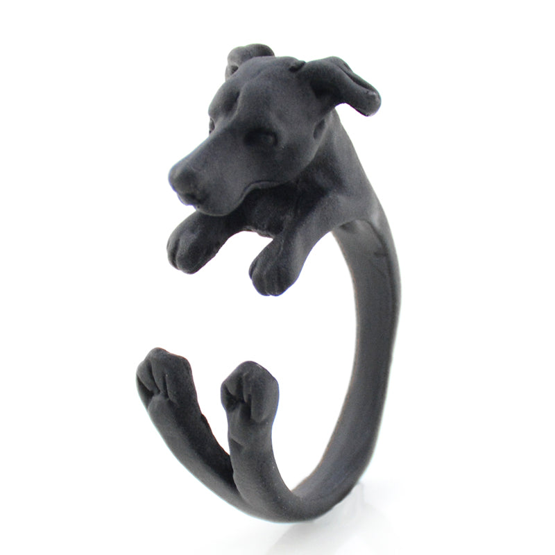 Fei Ye Paws Italian Greyhound Dog Ring Men Anel Vintage Antique Whippet Animal Knuckles Rings For Girls Male Unique Cool Gift
