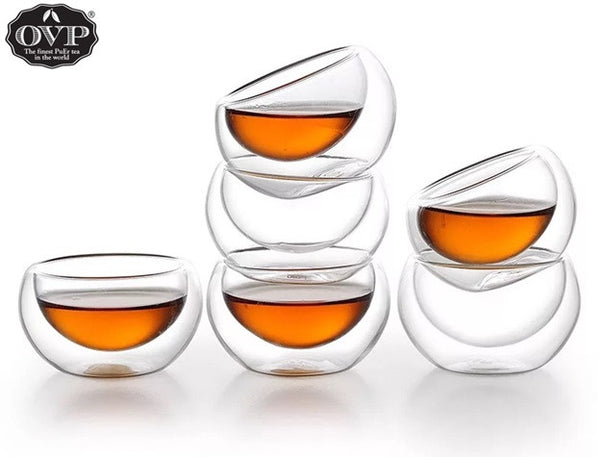 Old Village PuEr Tea Double-walled Borosilicate Glass Cup - OVP Tea