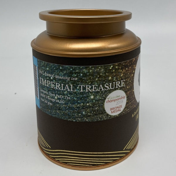 IMPERIAL TREASURE, Award-Winning Old Village Jasmine PuEr Loose Tea in Tin