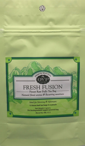 FRESH FUSION® Award-Winning Old Village PuEr Tea Pouch - OVP Tea