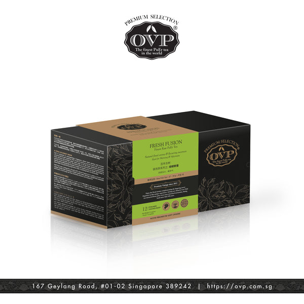 FRESH FUSION® Award-Winning Old Village PuEr Tea Gift Box - OVP Tea